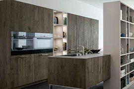 Кухня древесного цвета