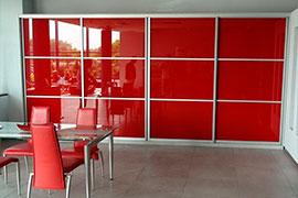 Красные шкафы-купе
