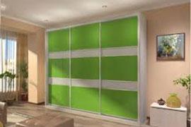 Зеленые шкафы-купе