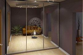 Зеркальные двери для шкафов-купе