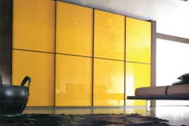 Желтые шкафы-купе