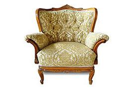 Перетяжка тканевого кресла