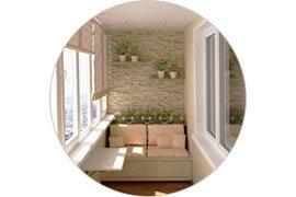 Sufit z balkonu