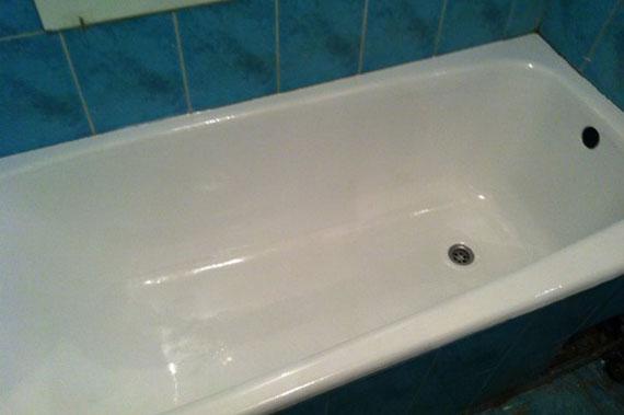 Фото после обновления ванны жидким акрилом в Набережных Челнах