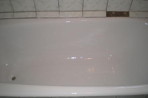 Фото после восстановления ванны эмалью в Набережных Челнах